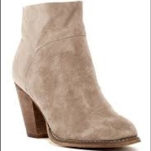Shoes - SOLE SOCIETY Alexi Taupe Cow Hide Booties 9.5